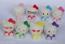 #Ht5~ LOT OF 10 Hello Kitty soft vinyl figure SET