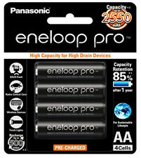 4x Panasonic eneloop pro 1.2V 2550mAh rechargeable AA battery | Made In Japan