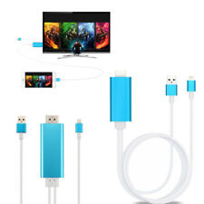 8 Pin To AV HDMI/HDTV TV Cable Adapter for  iPhone 5 5C 5S 6 6S 6 7 plus iPad2 4