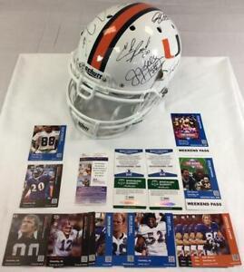 Miami Hurricanes  Autographed Helmet Signed by 9 HOF / Legends w/ COAs!!!