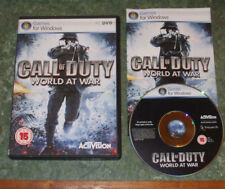 Call of Duty (COD): World at War for the PC, DVD-ROM (Windows) - Complete, VGC