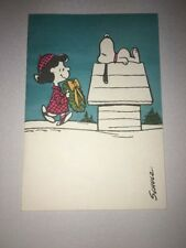 Vintage Hallmark Christmas Greeting Card Snoopy Schulz Copyright1952 1958 Defect