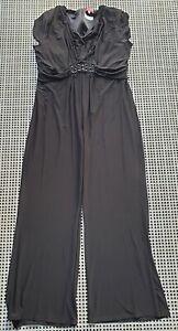 ❤️ TOGETHER Evening Formal Jumpsuit Black Size 48 Buy7=FreePost L846