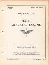 1943 AAF LYCOMING O-435-1 PARTS CATALOG PILOT FLIGHT MANUAL HANDBOOK (L-5)-CD
