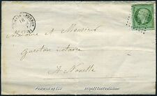 FRANCE EMPIRE N° 12 SUR LETTRE OBLITERATION PC 3096 ST GERMAIN LEMBRON COTE 500€