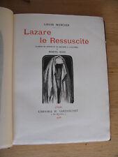 Lazare ressuscité MERCIER gravures Marcel RIOUX 1908