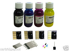4 chips + For HP 932 933 OfficeJet 7610 7110 Pigment ink kit 4x100ml/plugs/D/S
