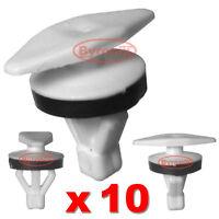 AUDI A4 DOOR WEATHERSTRIP CLIPS RUBBER SEAL TRIM GASKET FASTENERS X10