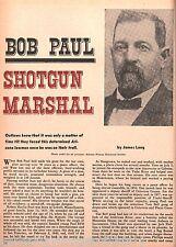 U S. Marshall Bob Paul-Arizona Lawman+Bell,Brown,Casey,Crane,Hart,Head,Long,Otis