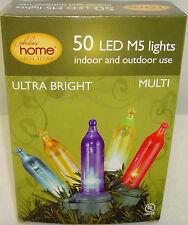 Home Holiday 50 Led Mini M5 Ultra Bright Multi Light Set Christmas Outdoor Decor
