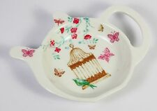 Sachet de thé support théière forme rangé papillons fleur motif durable leonardo neuf