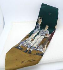 VTG Norman Rockwell Coin Flip Corporate Casual by Van Heusen 100% Silk Men's Tie