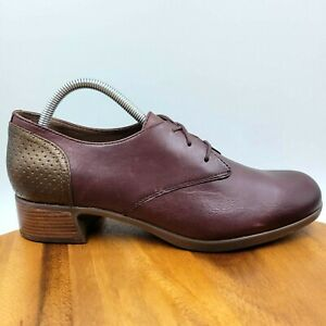 NEW Dansko Louise Burgundy Red Leather Comfort Oxford Shoes Women's 41 / 10.5-11