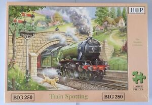 Brand New House of Puzzles BIG250 Large Piece Jigsaw Puzzle - TRAIN SPOTTING