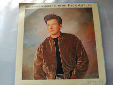 SINGLE RICK ASTLEY - SHE WANTS TO DANCE WITH ME - RCA SPAIN 1988 VG+