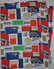 Vintage 1992 JURASSIC PARK Twin Size Flat Bed Sheet DINOSAUR