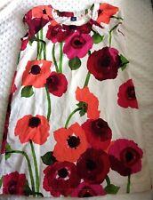 Gap Kids Girls Dress Sz 14-16 Poppy Dress Micro Cord Short Sleeve Shift Pink Red