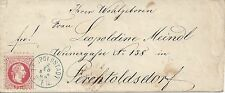 5 Kreuzer rot 2. 10. 1869 BLAUSTEMPEL Leopoldstadt Wien nach Perchtoldsdorf