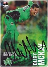 Autographed Melbourne Stars Cricket Trading Cards