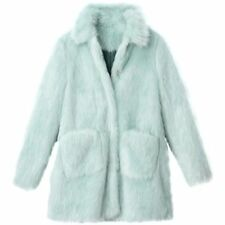 LA REDOUTE LADIES FAUX FUR COAT SEA GREEN SIZE 12 NEW (ref 520)