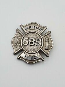OBSOLETE Hempstead F.D. Long Island New York Fire Department Badge 589