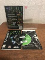 Ps1 Playstation Alien Trilogy Long Box
