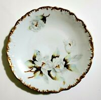 Antique Limoges Hand Painted Plate White Flowers