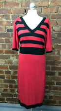 Kaleidoscope Red & Blakc Knitted Dress - Size 12 Winter Layering Daywear
