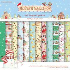 """Helz Cuppleditch Santa's Workshop muestra Paquete de papel (12 Hojas X 6x6"""" Tamaño)"""