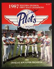 1987 Wichita Pilots Baseball Program Autographed Roberto Alomar Cover JSA