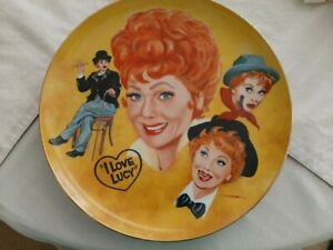 """""""I Love Lucy""""  The Lucille Ball Tribute Plate by Mike Hagel  Plate w/COA"""