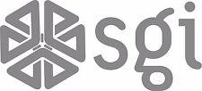 "SGI - Silicon Graphics LOGO VINTAGE - 6.75"" X 3"" - SET OF 2 - SILVER"