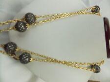 """Bezel Set Diamond Balls """"By The Yard"""" Necklace with 1.50 Cts Diamonds & 18K YG"""
