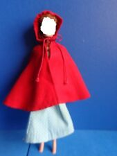 """VINTAGE BARBIE OUTFIT """"LITTLE RED RIDING  HOOD"""" 1964- INCOMPLETE"""