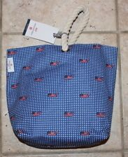 NEW Vineyard Vines by Target Flag Whale and Gingham Red White Blue Wine Tote