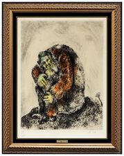 Marc Chagall Elijah Mount Carmel Original Hand Colored Etching Signed Artwork