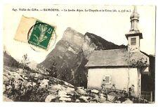 CPA 74 Haute-Savoie Samoens Le Jardin Alpin La Chapelle et le Criou animé