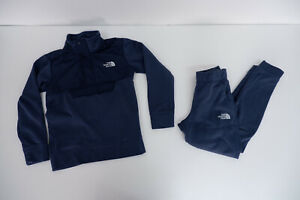 The North Face Blue Tracksuit Jumper & Bottoms Size S Small Boys