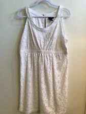 NWT Nicole by Nicole Miller Lace Dress Sz 16 White Sleeveless NWT $60