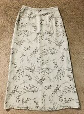 BANANA REPUBLIC 100% Silk Maxi Skirt Sz 10🌹Lined Long Floral Skirt🌹Elegant 🌹