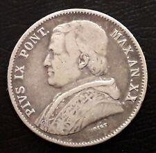 ITALIE - États Pontificaux - 20 BAIOCCHI 1865 R AN. XX- PIUS IX - Argent
