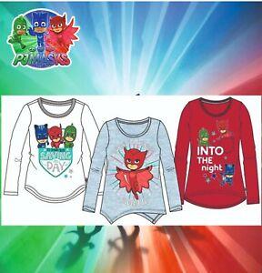 ✅PJ Masks Masken T-Shirt Oberteil langarm Kinder Sweatshirt 92-128 Top Design