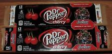 2012 DR PEPPER CHERRY LE MARVEL AVENGERS EMPTY (RED) 12-PACK CAN CARTON/CASE