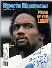 Billy Sims Signed Autographed Sports Illustrated Magazine