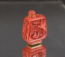 A lovely red lacquer chinese snuff bottle, 5.8 cm