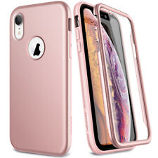 Phone Case For iPhone XS XR Matte Soft 360 Full Cover Screen Protector Show Logo