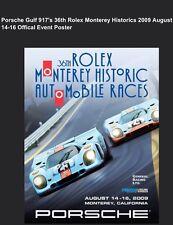 Porsche Gulf 917's 36th Monterey Historic 2009 Official OriginalEvent Car Poster