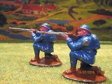 Magnifique figurine plomb creux militaire à genoux en position tireur au fusil