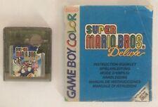 Super Mario Bros Deluxe + Manual - Nintendo Game Boy color gameboy
