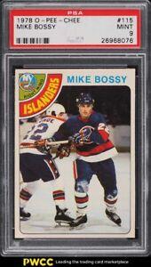 1978 O-Pee-Chee Hockey Mike Bossy ROOKIE RC #115 PSA 9 MINT